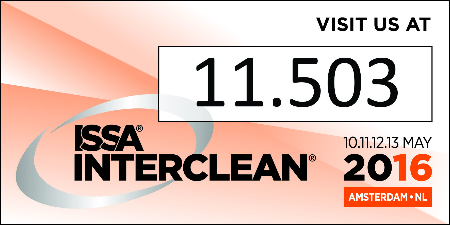 ISSA Interclean, Amsterdam 10th-13th May 2016